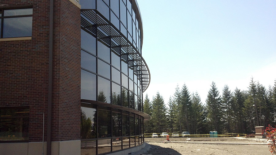 JBLM Army center glass windows