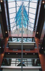 Glass ceiling skywindow