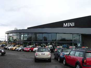 Tacoma Mini Cooper building